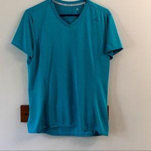 Adidas climalite short sleeve shirt Sz Large